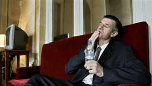TF1 / LCI Jean Lassalle, lors de sa grève de la faim, au printemps 2006