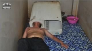 Chine : un homme se coince la tête dans sa machine à laver