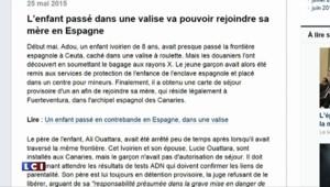 Espagne : l'enfant ivoirien caché dans une valise émeut les internautes