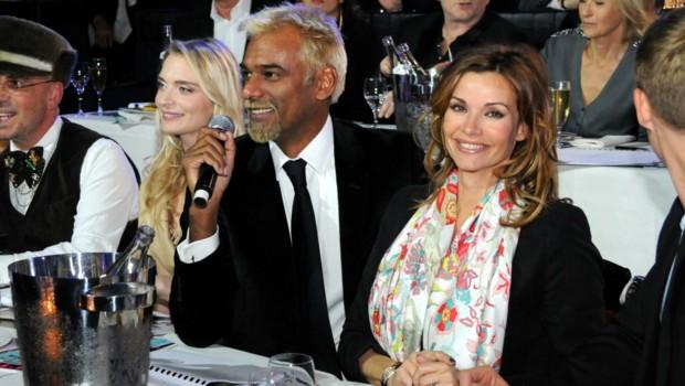 Ingrid Chauvin au côté de Satya Oblette lors de la cérémonie Top Model Belgique 2016 (24 janvier 2016)