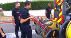 Le 13 heures du 28 juillet 2015 : Incendie en Gironde : les pompiers mobilisés, les riverains inquiets - 370
