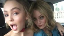 Lily-Rose Depp et Vanessa Paradis sur Instagram le 6 octobre 2015.