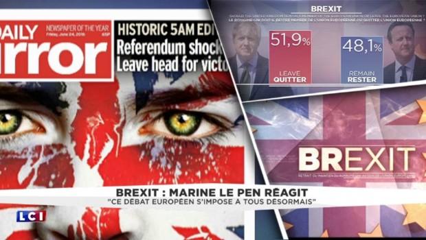 Brexit : Marine Le Pen veut le même référendum en France