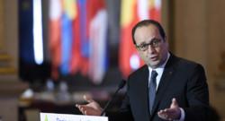 François Hollande lors de la conférence des maires d'Europe pour le climat (mars 2015)