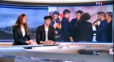 """Le 20 heures du 26 avril 2015 : Lilian Renaud et Zazie, grands vainqueurs de """"The Voice"""", invités de Claire Chazal - 2325.387"""