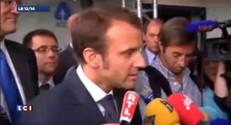 """Macron lors de sa première sortie : """"Il ne s'agit pas de critiquer les 35 heures"""""""