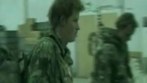Le Prince Harry lors de son rapatriement d'Afghanistan le 1er Mars 2008