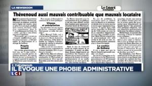 """Loyers impayés pendant 3 ans : Thévenoud évoque une """"phobie administrative"""""""