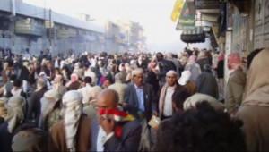 Des manifestations au Yémen ont fait trois morts samedi 12 mars 2011.