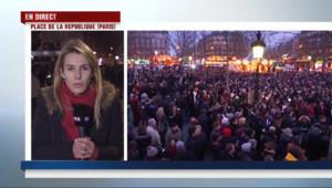 Le 20 heures du 7 janvier 2015 : Charlie Hebdo : des milliers de personnes place de la République - 4520.886