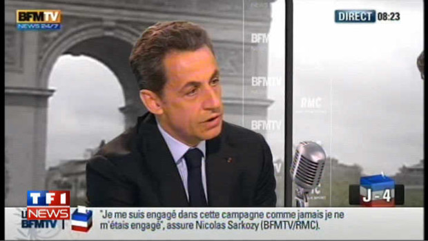 "Sarkozy : ""Le vote Le Pen sert Hollande"""