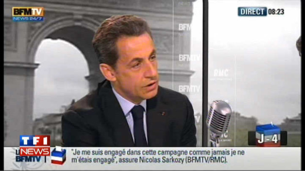 Sarkozy : &quot;Le vote Le Pen sert Hollande&quot;