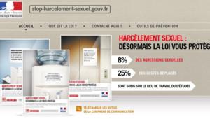 Le site de la campagne gouvernementale contre le harcèlement sexuel (lancée le 12 novembre 2012)