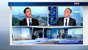 """Manuel Valls au 20H de TF1 : """"La petite politique, ça ne m'intéresse pas"""""""
