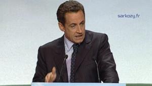 Nicolas Sarkozy, en meeting à Strasbourg le 21 février 2007