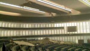 parlement européen strasbourg effondrement plafond