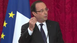 François Hollande lors de son discours de clôture des Assises de l'entreprenariat, le 29 avril 2013.