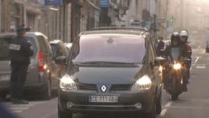 La voiture de Nicolas Sarkozy arrivant au Palais de Justice de Bordeaux, le 22 novembre 2012
