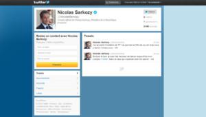 Lancement du compte Twitter du candidat Sarkozy le 15 février 2012