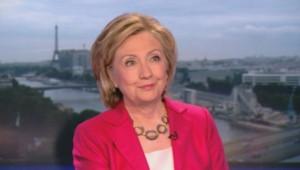 Hillary Clinton sur le plateau du 20H de Gilles Bouleau le 7 juillet 2014