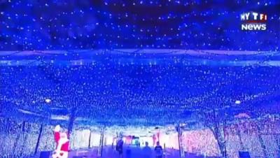 Il décore avec plus d'un million d'ampoules pour fêter Noël