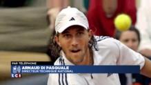 """Interview en plein match à l'US Open : Arnaud Di Pasquale a """"du mal à croire que ça rentre dans les mœurs"""""""