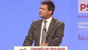 Manuel Valls au Congrès du PS, à Toulouse (27 octobre 2012)
