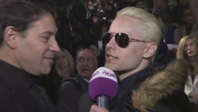 Jared Leto au défilé Lanvin à Paris, le 5 mars 2015.