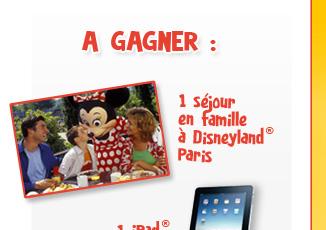 Gagnez un séjour en famille à Disneyland® Paris ou un iPad®