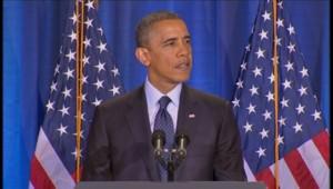 Barack Obama avait été le premier président américain l'an dernier à soutenir le mariage homosexuel.