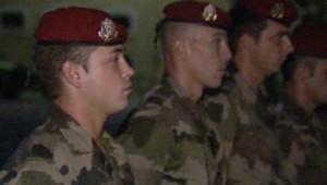 Des soldats français en partance pour l'Afghanistan