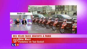 Des vélos-taxis gratuit à Paris