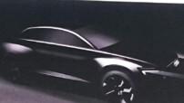 Esquisse du future Audi Q8 (ou Q9), attendu pour l'année 2018 avec motorisation électrique et autonomie de 500 kilomètres