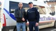 Laurent (à droite sur la photo) a sauvé le bébé de Nicolas (à gauche sur la photo).