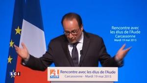 """François Hollande : """"Ma feuille de route figure en toutes lettres"""" dans le discours du Bourget"""