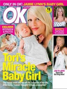 people : Tori Spelling et sa fille Stella en couverture de OK