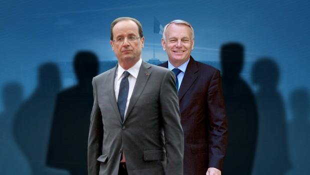 François Hollande et Jean-Marc Ayrault (montage TF1 News)