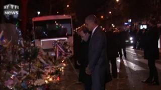 Obama à Paris, l'hommage aux victimes au coeur de la nuit
