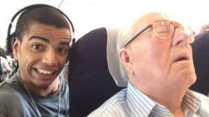 Brahim Zaibat Jean Marie Le Pen selfie