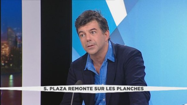 L'animateur de télévision et comédien Stéphane Plaza invité de LCI le 26 janvier 2016.