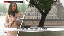 Les quais d'île Saint-Louis à Paris fermés en raison de la montée de la Seine