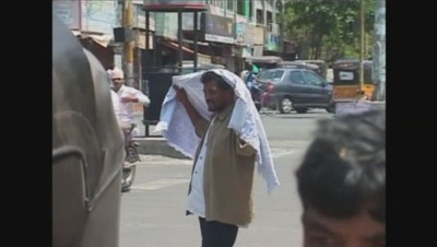 Vague de chaleur en Inde (mai 2015).