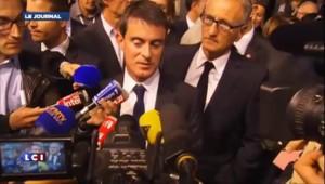 Manuel Valls félicite Patrick Modiano, prix Nobel de littérature