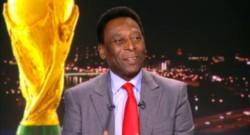 Pelé, légende du football brésilien.