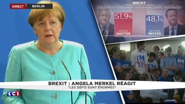 """Brexit : Angela Merkel évoque """"une blessure pour l'Union européenne"""""""