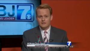 Chris Hurst, le fiancé de la journaliste tuée en direct, de retour à l'antenne, très ému