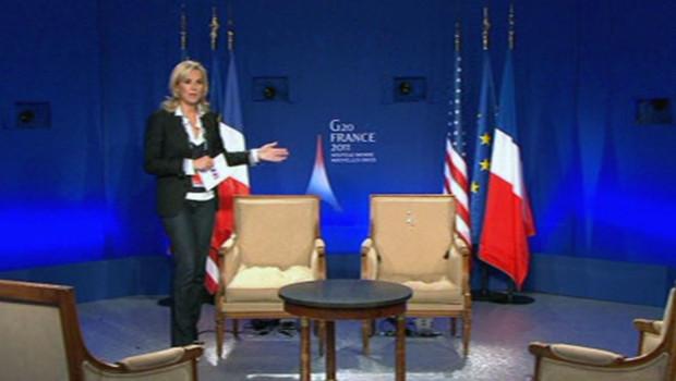 Laurence ferrari Sarkozy Obama G20 Cannes