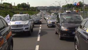Le 20 heures du 11 juin 2014 : Les taxis manifestent contre la concurrence des VTC - 697.535931274414