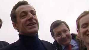 TF1 / LCI Nicolas Sarkozy en déplacement au Mont-Saint-Michel, le 15 janvier 2007