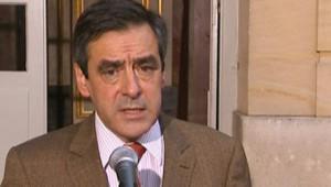 François Fillon s'exprimant à l'issue d'une réunion d'urgence à Matignon consacrée à la tempête (26 janvier 2009)